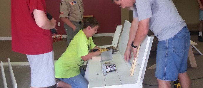 Eagle Scout Makes Benches for Clearbrook Center of the Arts at Tacketts Mill